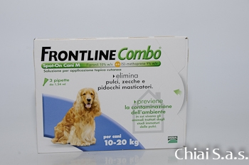 Frontline combo cane medio 3 pipette prodotti per l for Piani di combo per l house shop